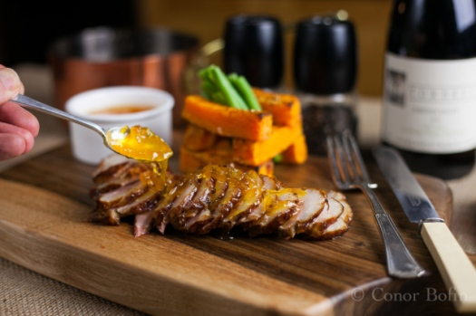 Hot Smoked Duck with Orange Marmalade, by Conor Bofin.