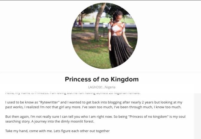NEW WRITER ALERT: PRINCESS OF NO KINGDOM