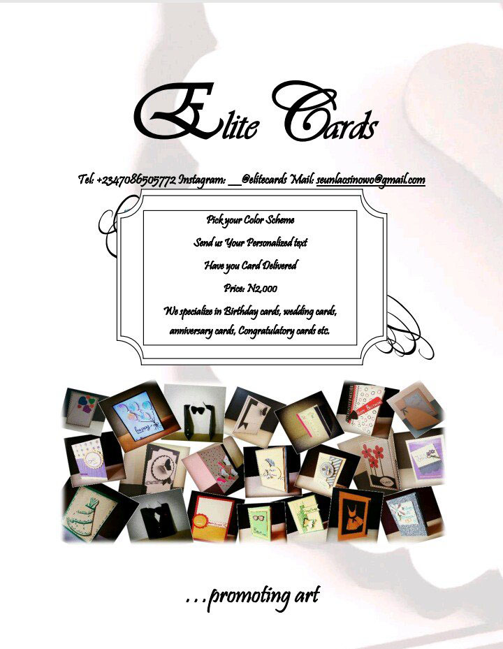 Get your custom made greeting cards for as low as N2000